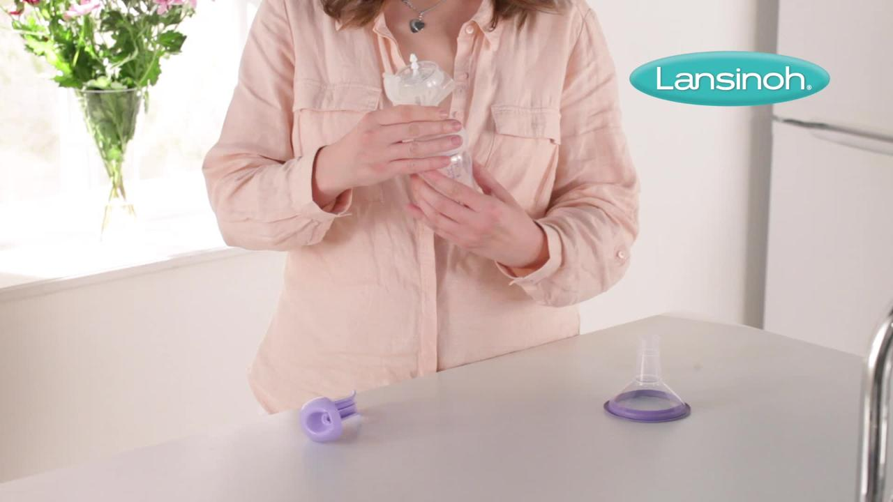 How to Assemble the Lansinoh Manual Breast Pump Video