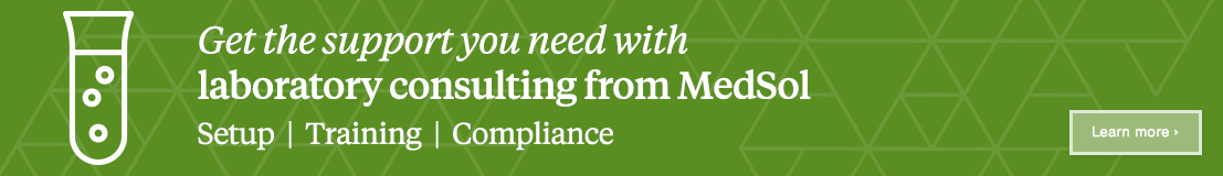 Banner ad: Get the support you need with laboratory consulting from MedSol