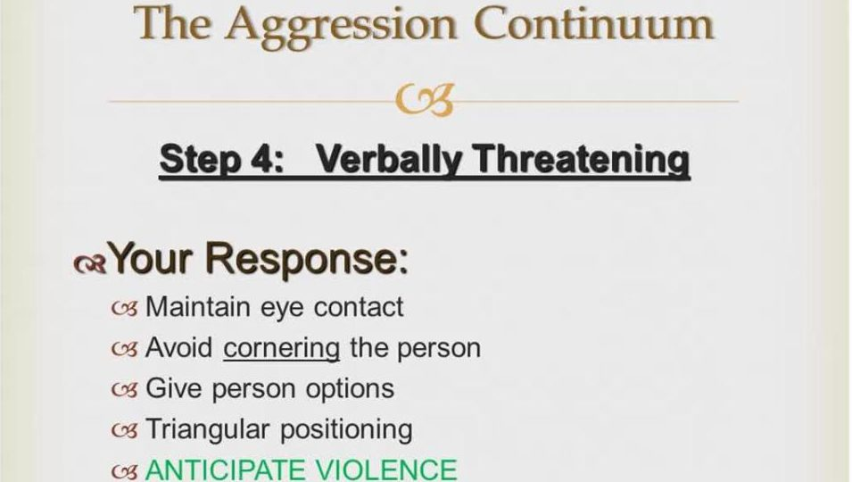 Clinical Connection: The Aggression Continuum video