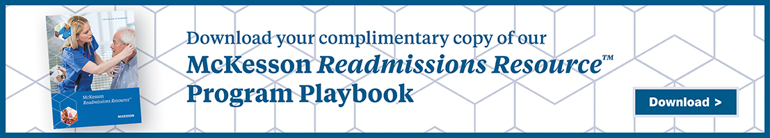 Banner ad: Download your complimentary copy of our McKesson Readmissions Resource Program Playbook
