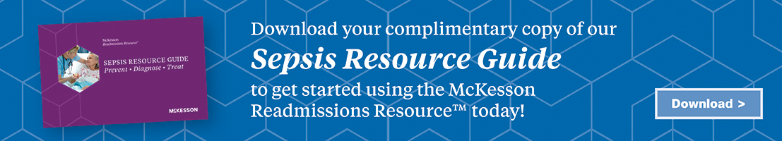 Banner ad: Download your complimentary copy of our Sepsis Resource Guide