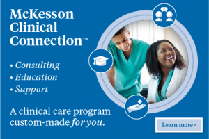 Banner ad: McKesson Clinical Connection