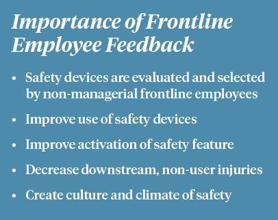Sharps Safety Employee Feedback