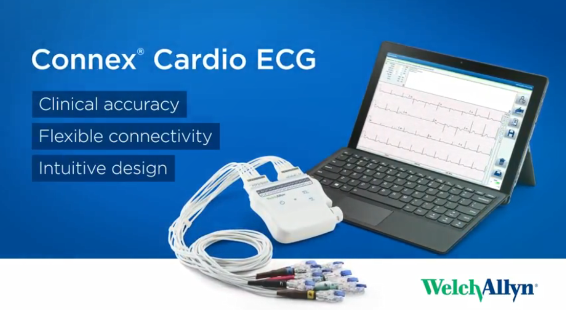 Welch Allyn Connex Cardio ECG video