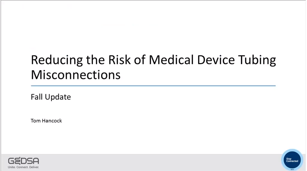Reducing the Risk of Medical Device Tubing Misconnections Video