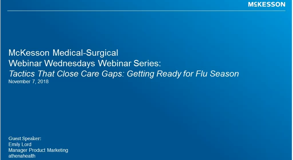 Webinar Wednesdays: Tactics that Close Care Gaps: Getting Ready for Flu Season