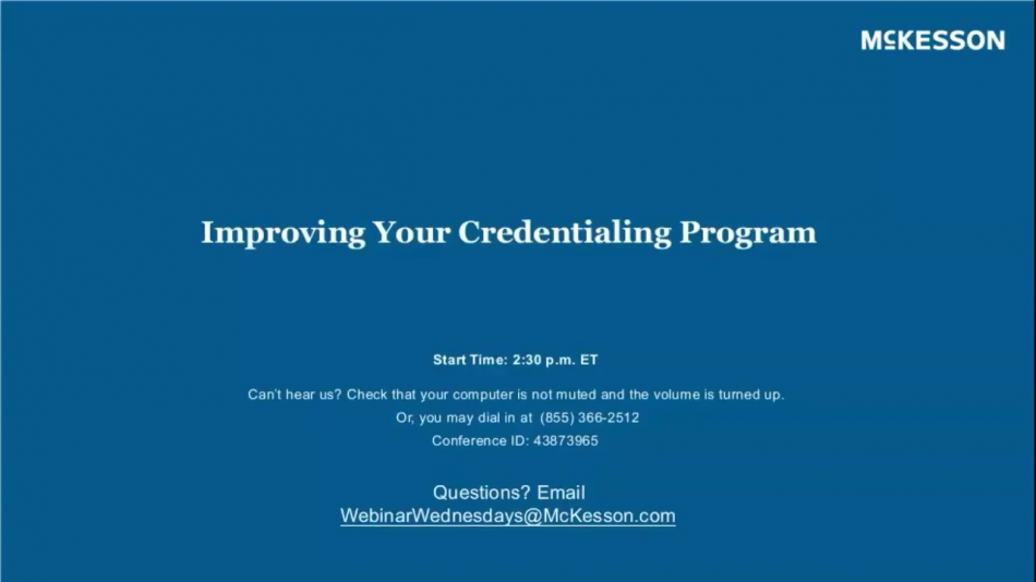 Improving Your Credentialing Program