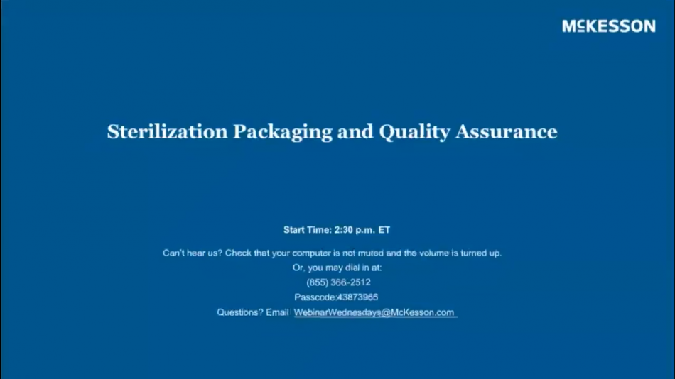 Sterilization Packaging and Quality Assurance