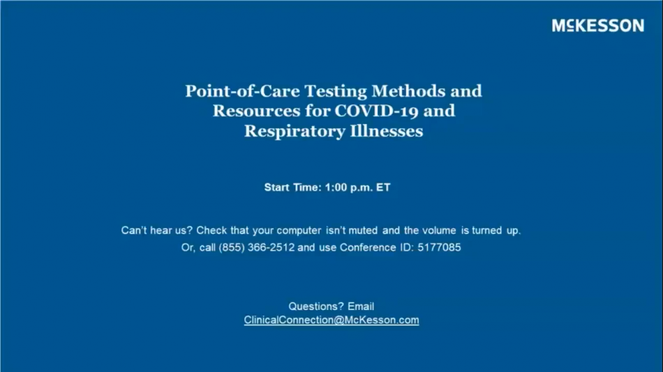 Point-of-Care Lab Testing Methods for COVID-19 & Respiratory Illnesses