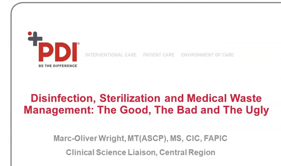 Disinfection, Sterilization & Medical Waste Management