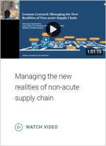 Managing the new realities of non-acute supply chain. Watch video.